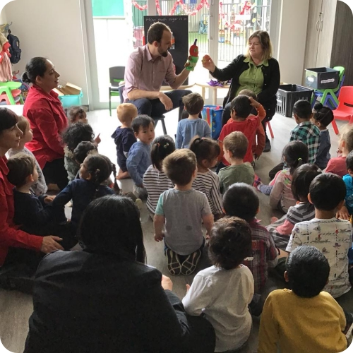 Helping educate the local schools about oral health