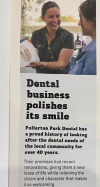 Fullarton Park Dental feature in Unley Council's magazine